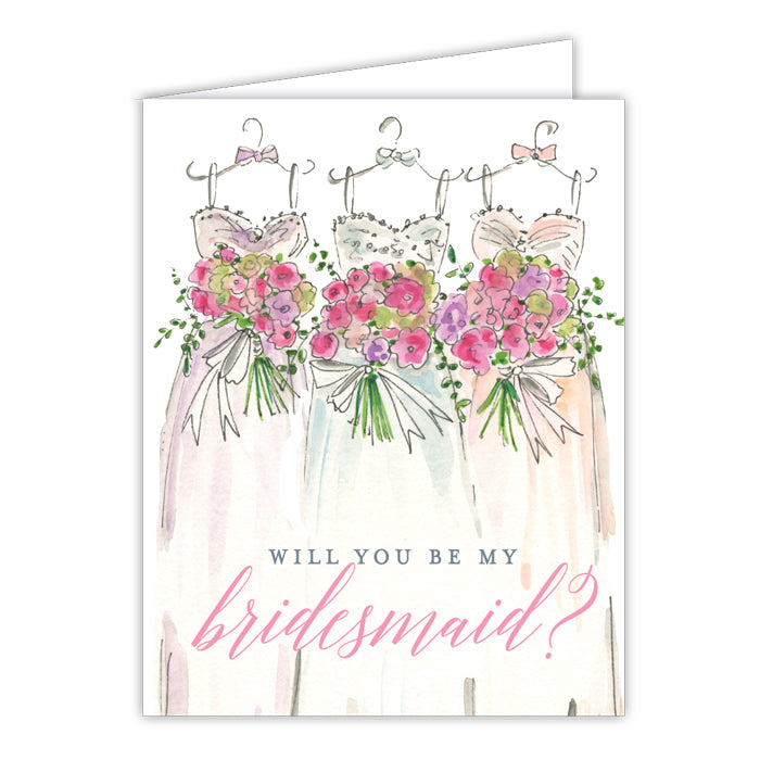 Will You Be My Bridesmaid? Small Folded Greeting Card