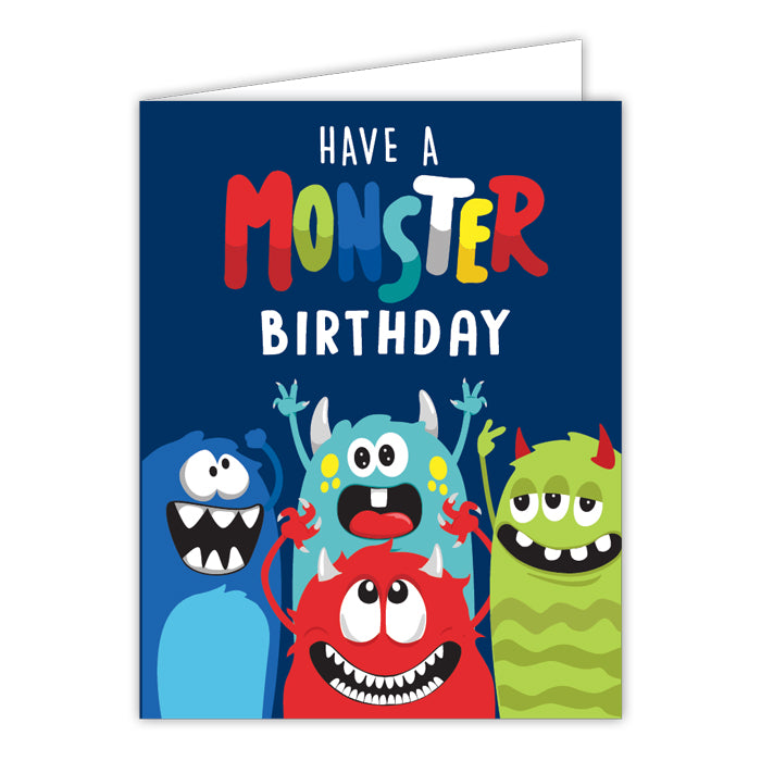Have A Monster Birthday Small Folded Greeting Card