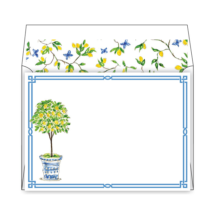 Lemon Tree Topiary Social Stationery