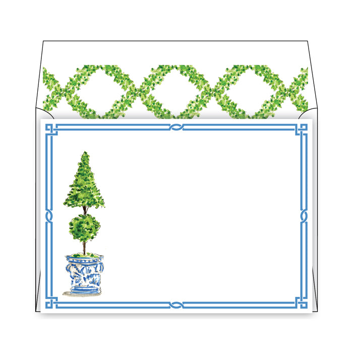 Double Topiary Social Stationery