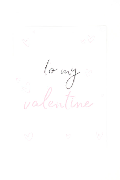 to my valentine card