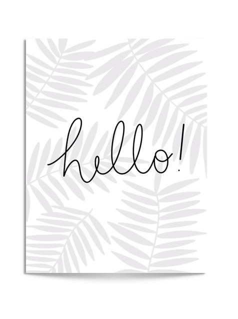 NEW! hello fronds card