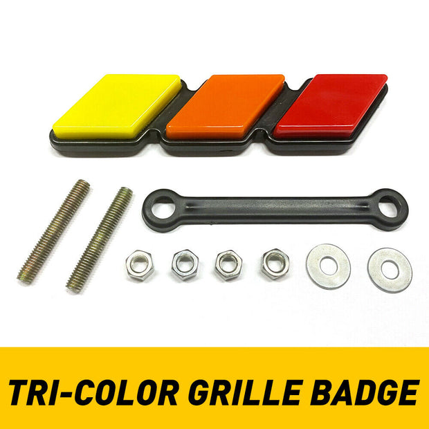 TOYOTA TRD EMBLEM TRI-COLOR GRILL BADGE - Crown Fabrication