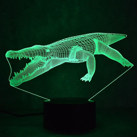 Lampe Crocodile 3D | Univers Crocodile | Peluches