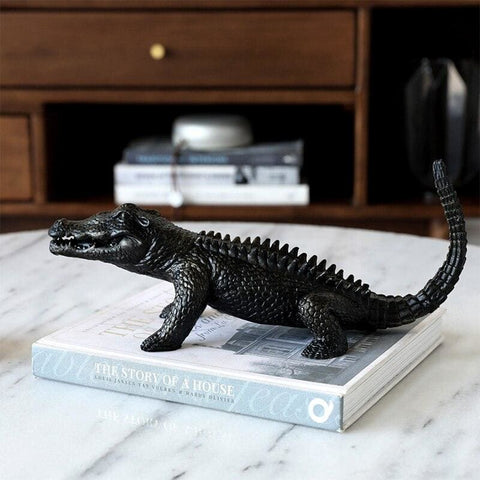 Statue Crocodile Noir | Univers Crocodile | Peluches