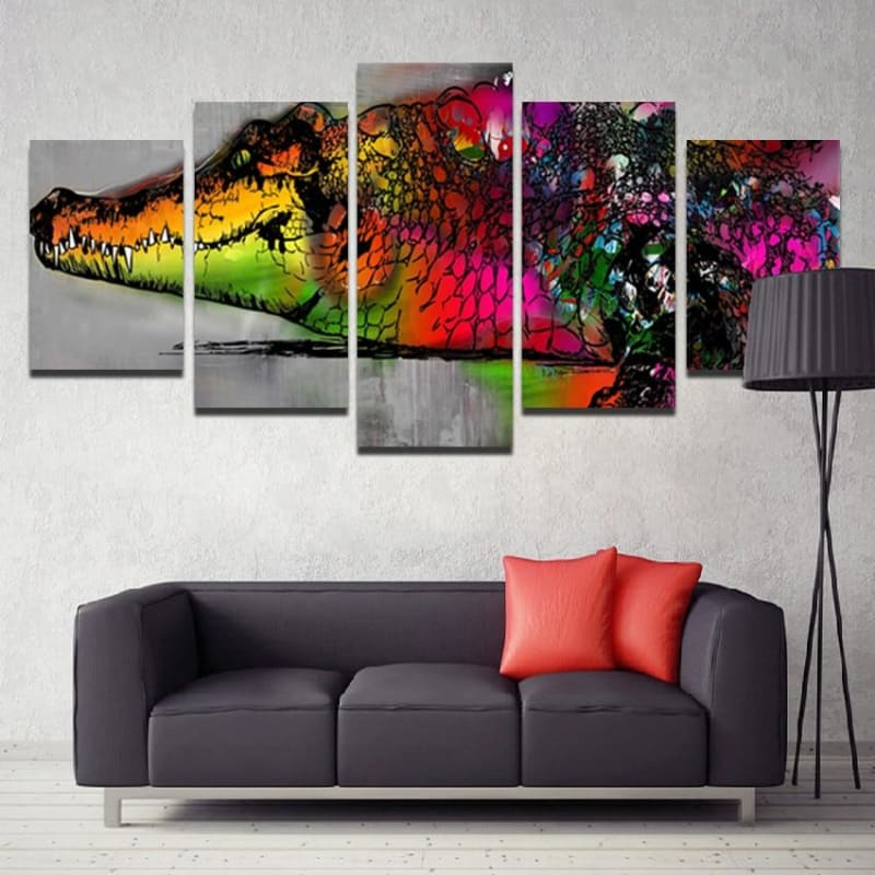 Tableau crocodile art abstrait | Univers Crocodile |
