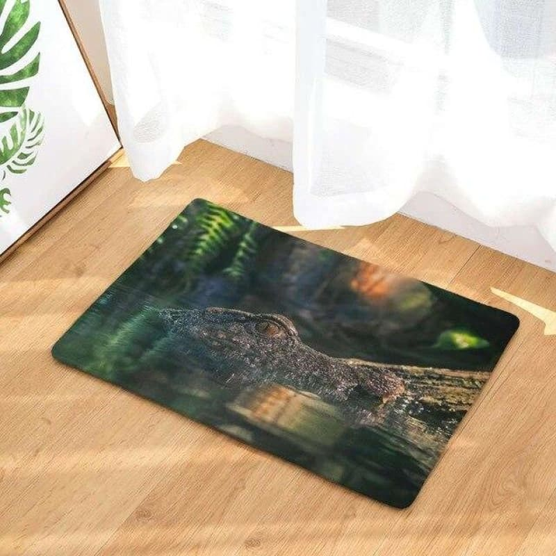 Tapis oeil de crocodile design | Univers Crocodile |