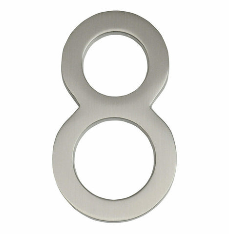 House Numbers, Frank Lloyd Wright 4 Inch Floating House Number Satin Nickel