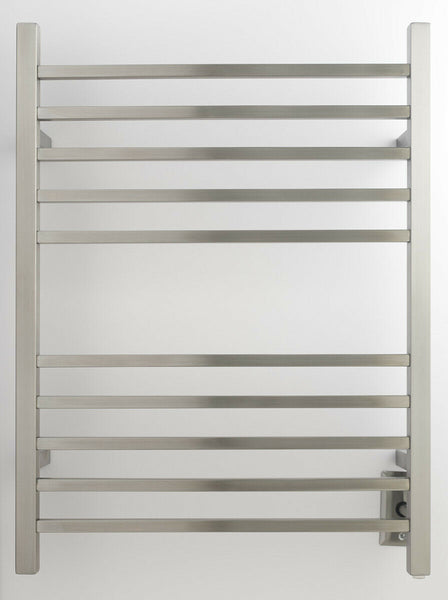 "Amba RSWH-B Hardwired Radiant Square Towel Warmer, Brushed W 23 5/8"" H 31.5"""