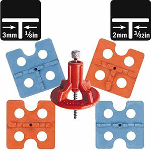 ATR Tile Leveling Alignment System DIY Basic KIT 2mm/3mm OFFSET Spacers