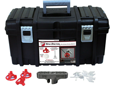 Spin Doctor Tile Leveling PRO Kit With Anti-Fatigue Tool