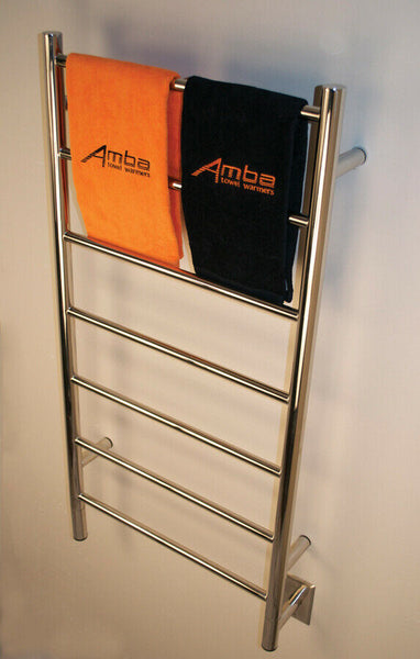 "Amba Jeeves F Straight Hardwired Towel Warmer With Programmable Timer W21"" H41"""
