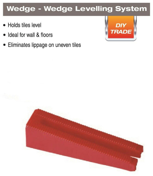 "DTA Wedge Leveling System for Tile Up To 1/2"", 250pc 1/16"" Spacers Kit"
