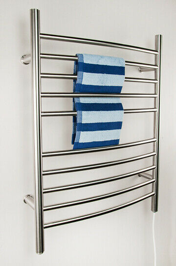 "Amba RWP-CB Radiant Plug-In Curved Towel Warmer, Brushed W 23"" H 31.5"""