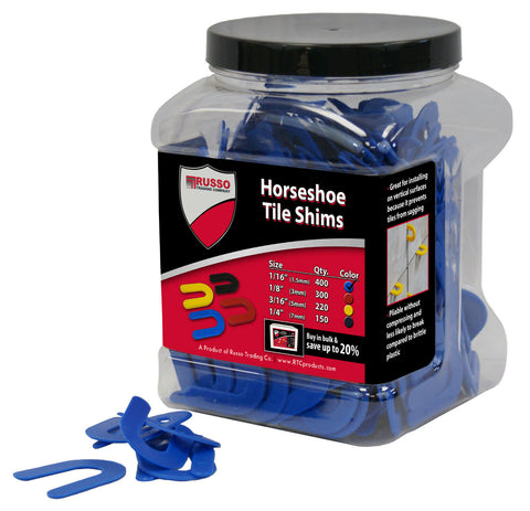 "1/16"" Horseshoe Tile Spacer, RTC Tile Shims 1/16″ (1.5mm)"