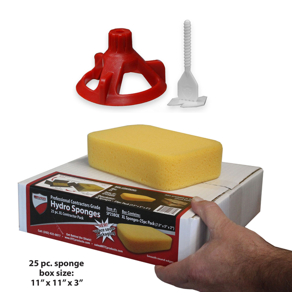 "Spin Doctor Tile Leveling System 1/16"" 250pc Posts, 100 Caps, 25pc Sponge"