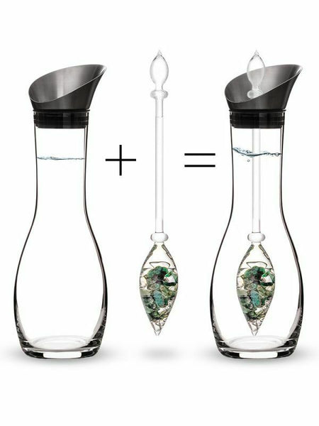VitaJuwel Era Decanter with Gemstone Vials