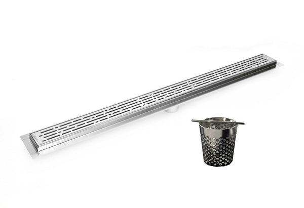 Linear Shower Drain 60 Inch With Hair Trap (7 Styles)