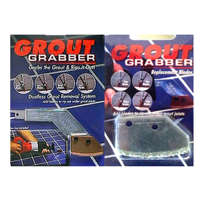 Grout Grabber Kit (Adapter & 1 blade) with Replacement Carbide Blades (2 pack)