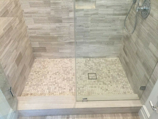 6 inch Square Shower Drain Invisible Design by Serene Drains