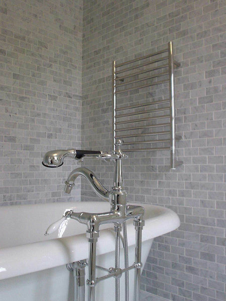 "Amba Jeeves E Straight Hardwired Towel Warmer With Programmable Timer W21"" H31"""