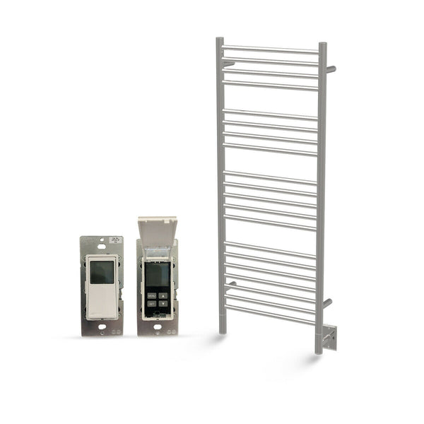 "Amba Jeeves D Straight Hardwired Towel Warmer With Programmable Timer W21"" H53"""