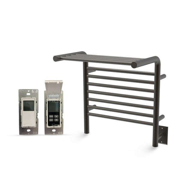 "Amba Jeeves M Shelf Hardwired Towel Warmer With Programmable Timer W 21"" H 22"""