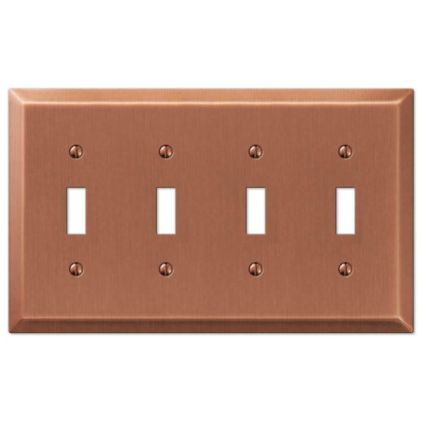 Wall Plates, Amerelle Century Antique Copper Steel Wallplates for Every Outlet