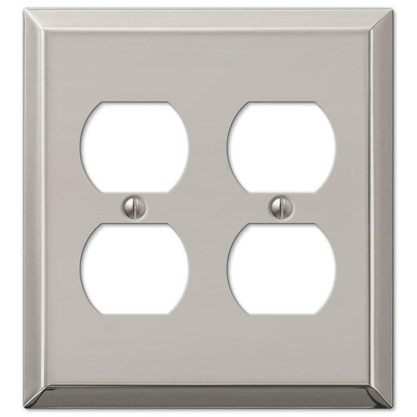 Wall Plates, Amerelle Century Polished Nickel Steel Wallplates for Every outlet