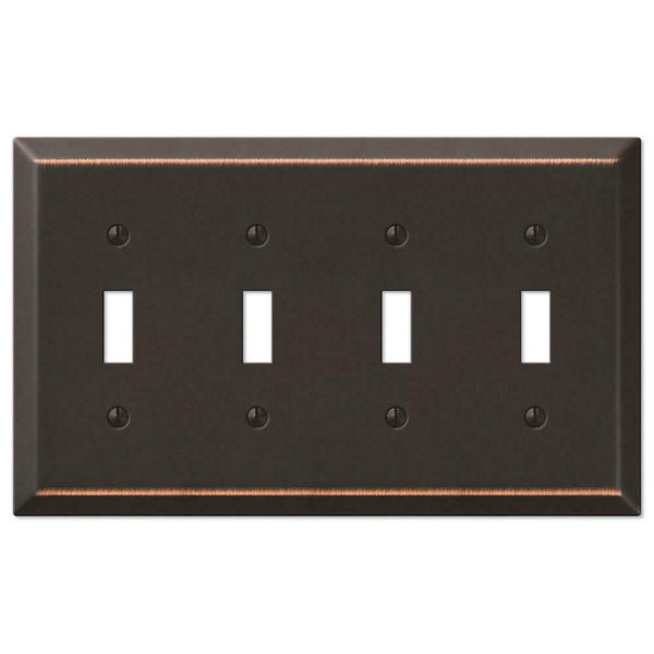 Wall Plates, Amerelle Century Wallplates Aged Bronze & Brushed Nickel