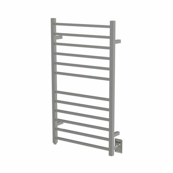 "Amba RSWHL-B Radiant Hardwired Square Large Towel Warmer, Brushed W 23"" H 40"""