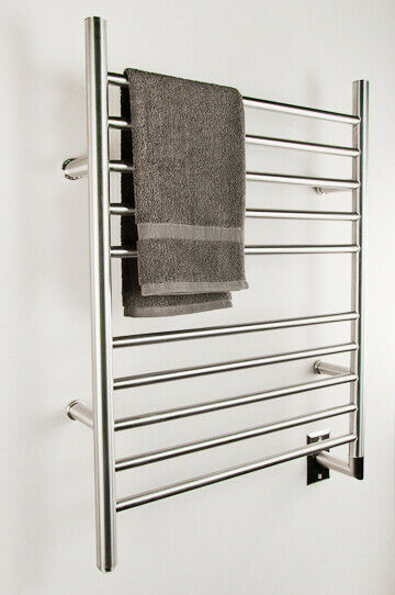 "Amba RWH-SB Radiant Hardwired Straight Towel Warmer, Brushed W 23""  H 31"""
