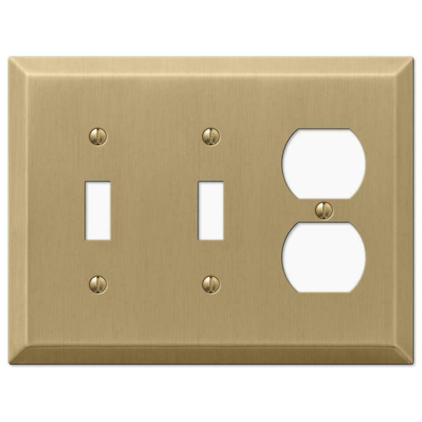 Wall Plates, Amerelle Century Brushed Bronze Steel Wallplates for Every Outlet