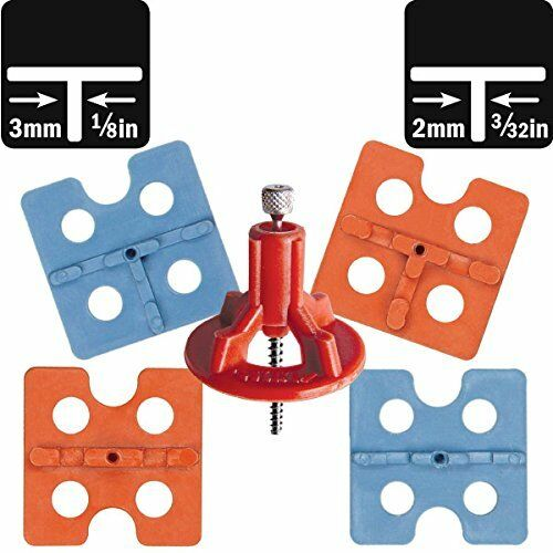 ATR Tile Leveling Alignment System 380 sq ft DIY KIT 2mm/3mm OFFSET Spacers
