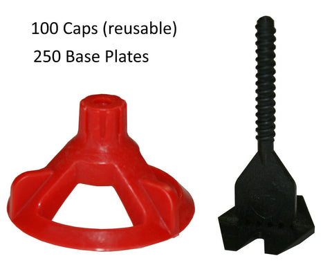 "Spin Doctor Tile Leveling System BASIC 250 KIT: 1/16"", 1/8"", 3/16"", 1/32"""