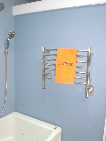 "Amba Jeeves H Curved Hardwired Towel Warmer With Programmable Timer W21"" H18"""