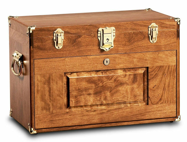 Gerstner USA 2007 Wood Chest for Hobbies Tools, Jewelry Box, Personal Valuables
