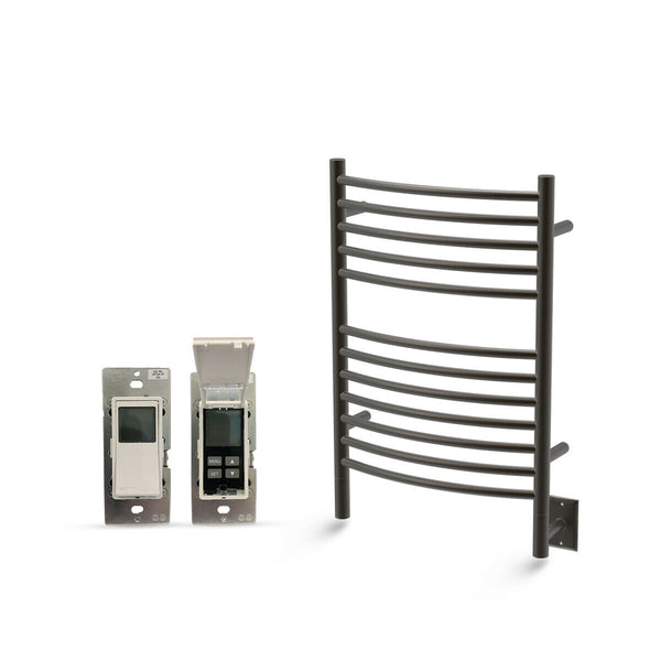 "Amba Jeeves E Curved Hardwired Towel Warmer With Programmable Timer W21"" H31"""
