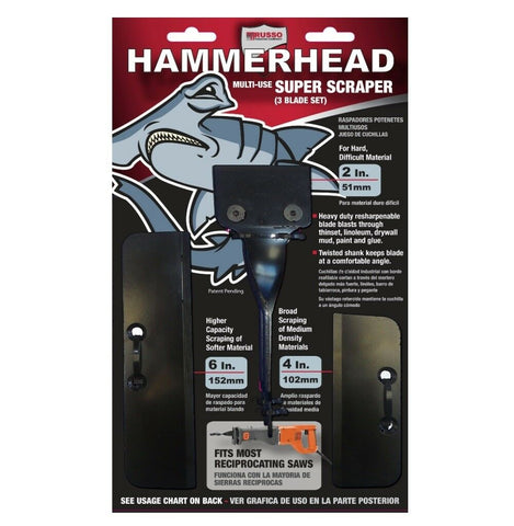 Hammerhead Super Scraper 3 Blade Set for Scraping Thinset, Linoleum, Drywall