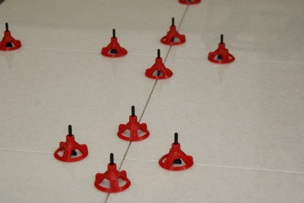 Spin Doctor Tile Leveling System 3000 Base Plate Spacers (1/8, 1/16, 1/32, 3/16)
