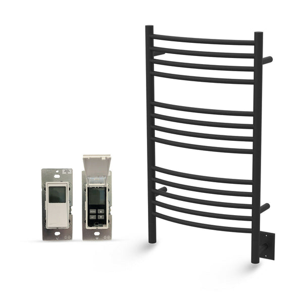 "Amba Jeeves C Curved Hardwired Towel Warmer With Programmable Timer W21"" H36"""