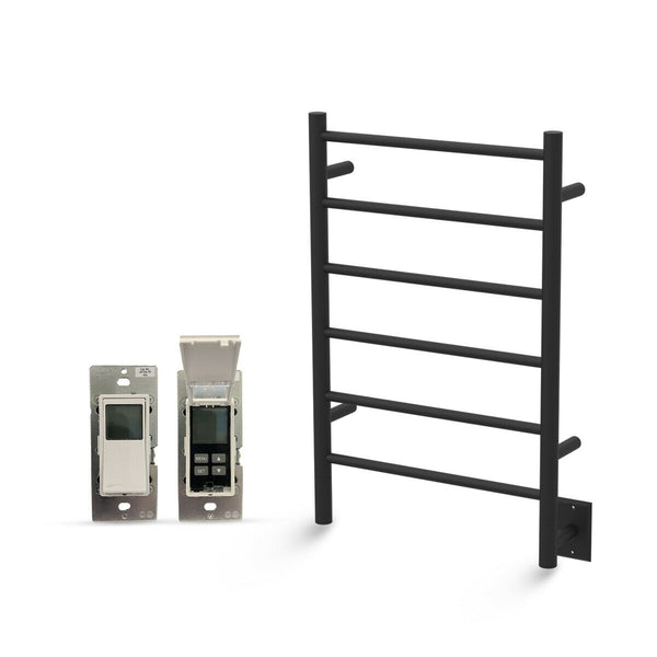 "Amba Jeeves J Straight Hardwired Towel Warmer With Programmable Timer W21"" H31"""