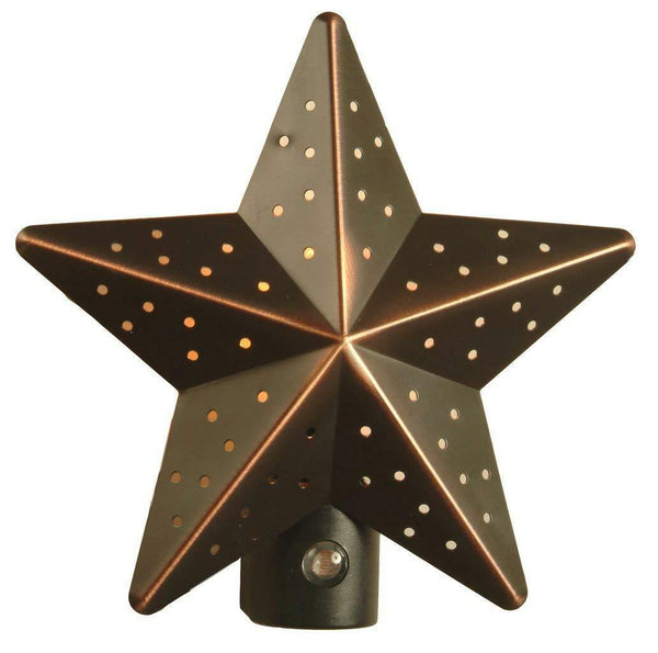 Tin Star Nite Light Aged-Bronze or Silver Finish Set of 2