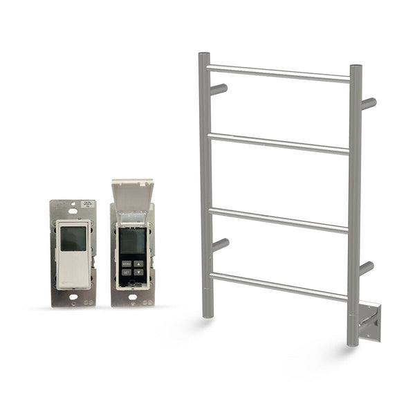 "Amba Jeeves I Straight Hardwired Towel Warmer With Programmable Timer W21"" H31"""