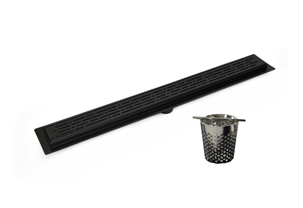 Linear Shower Drain 30 Inch With Hair Trap (7 Styles)