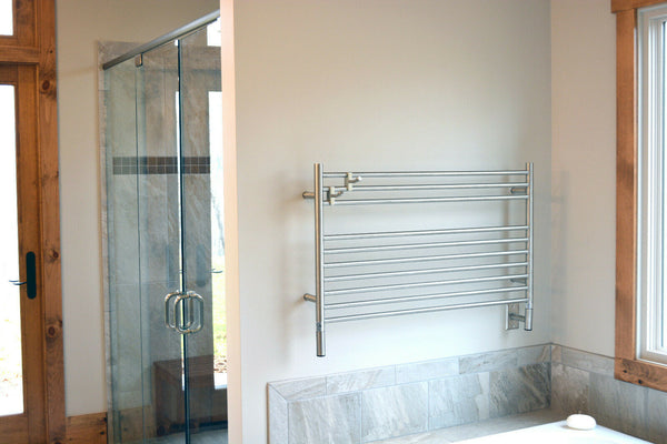 "Amba Jeeves L Straight Hardwired Towel Warmer 10 Bars, H 27"" W 40"""