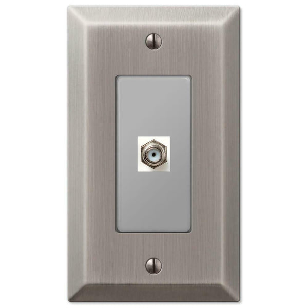 Wall Plates, Amerelle Century Antique Nickel Steel Wallplates for Every Outlet