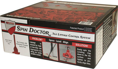 "Spin Doctor Tile Leveling System 1/32"" 250pc Posts, 100 Caps, 25pc Sponge"