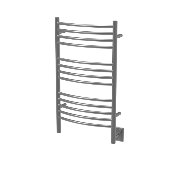 "Amba Jeeves C Curved Hardwired Towel Warmer 13 Bars, W 21"" H 36"""