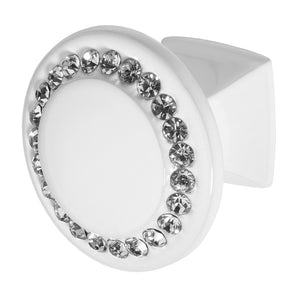 Wisdom Stone Isabel White Drawer and Cabinet Knob With Crystal